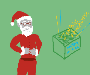 "Santa's ""present"" is a zombification virus! :D"