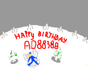 A birthday-cake-snow-angel for AD88388!