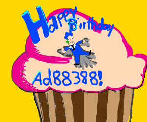 Making a cupcake angel for AD88388's birthday.