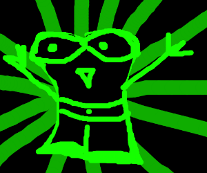 Alien gets effected by nuclear energy.