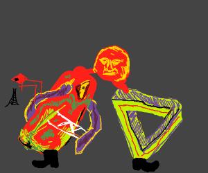 Non-Euclidean legs