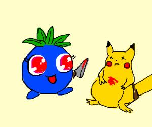 Kawaii radish VS Pikachu ... RADISH WINS