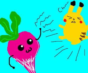 radish attacks. is super effective