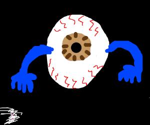 Big eye with hands