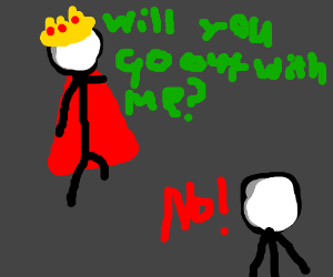 King of England gets rejected... Again.