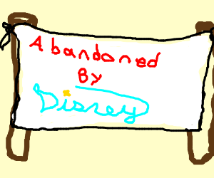 "A banister post is ""abandoned by Disney""."