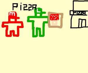 Mario and luigi pizza mushrom shop