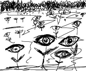 Field of eyes