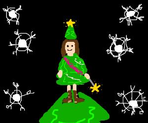 It's the Christmas Tree Fairy!
