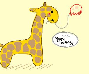 Giraffe wishes you a happy birthday