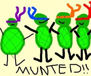 Munted Ninja Turtles