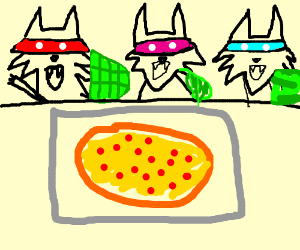 Teenage Mutant Ninja Wolves order a pizza