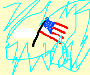 cloud holding the american flag