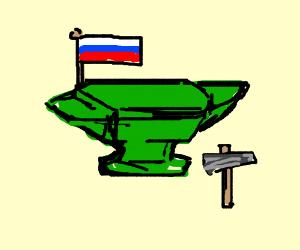 green Russian anvil
