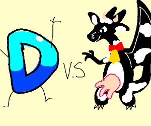 Drawception vs. Charizard/cow hybrid