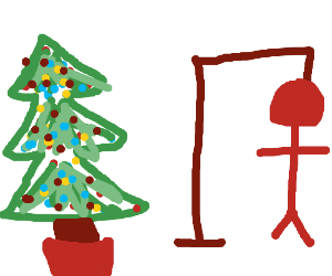 Christmas tree hangman