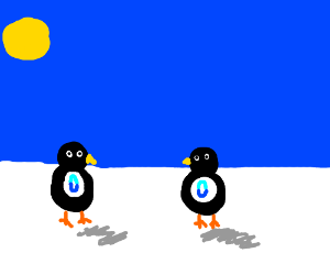 Drawception penguins