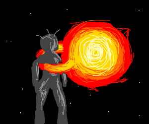 a sun embraces a burning damsel