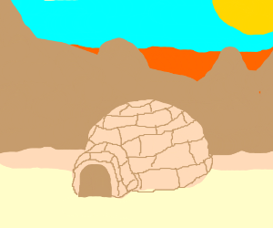 Igloo in the desert