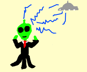 Alien businessman sends out telapathic waves