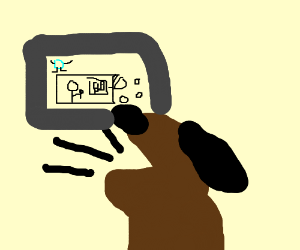 Noisy dog enjoy playing Drawception