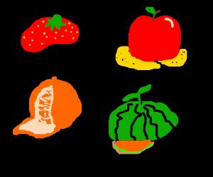 Fruit hats!