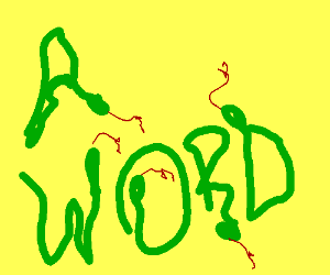 Snakes are forming a word ???
