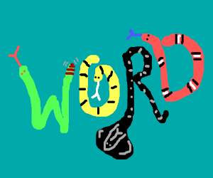 A `Word` made of snakes