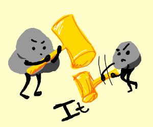 Two rocks pounding' it