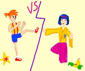 Kickboxer Misty Vs Tai Chi Erika!