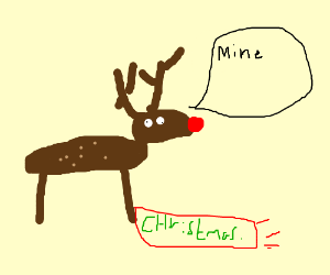 Reindeer steals Christmas