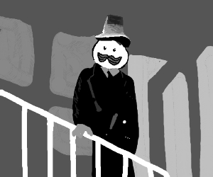 Pringles man is Film Noir detective