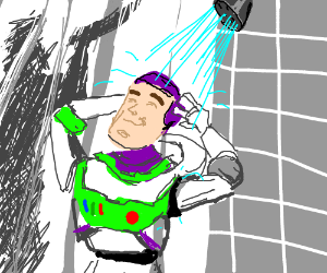 Stop showering and look behind you, Buzz!