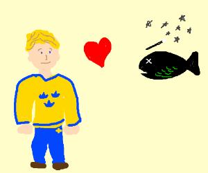 swedish man loves his magical dead fish