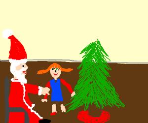 Santa gives you a happy swedish redhead