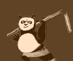 Kung Fu Panda with broken paddle