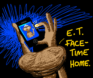E.T. now has a cell phone