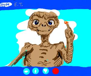 E.T skyped home
