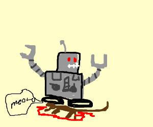 minibot squashes cat