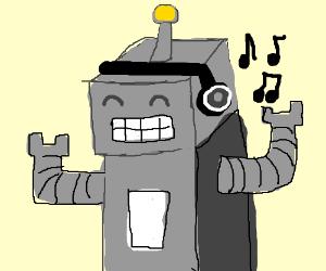 Robot loves music