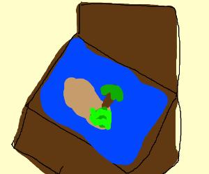 An island in a box