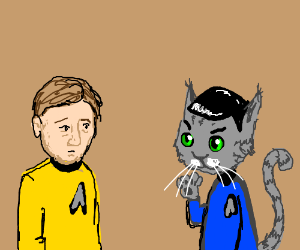 Catptain Kirk and Mewster Spock