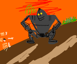 The Iron Giant homing in his body parts.