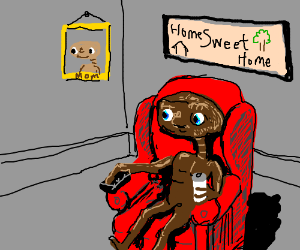 E.T. is finally home.
