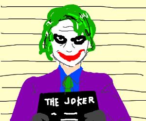 Joker's mugshot