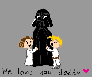 little leia and little luke love their daddy
