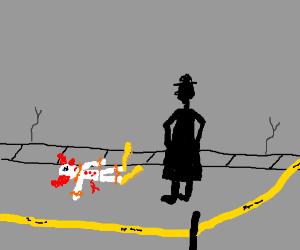 A clowny crime scene