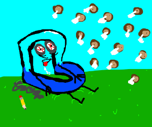 Drawception D is addicted to Cookie Clicker