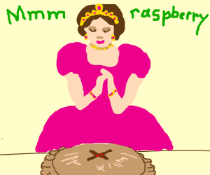 Royal lady loves her raspberry pie