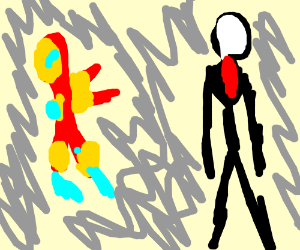 Iron Man finds Slender Man